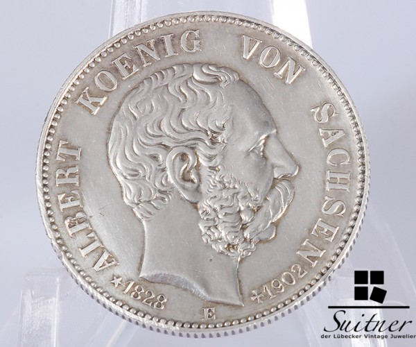 2 Mark König Albert Sachsen 1902 E Silber ss