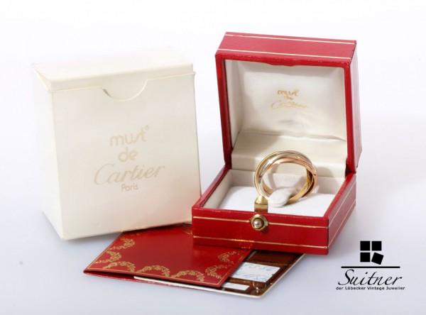 Cartier Trinity Ring 750 Gold Gr 56 neuwertig Original verpackt mit Papieren