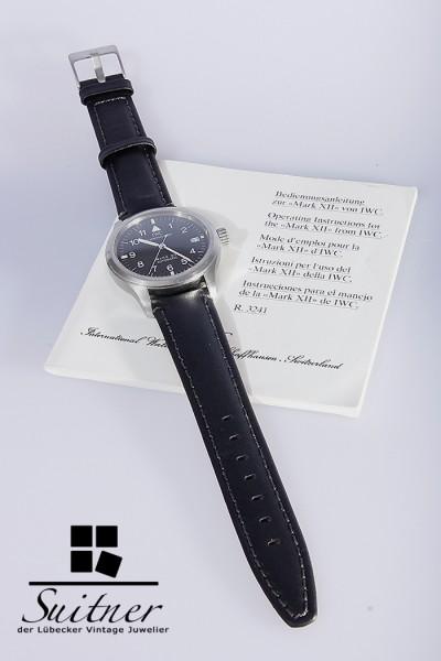 IWC Mark XII Schaffhausen Fliegeruhr Automatik Uhr Lederarmband