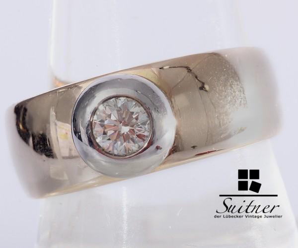 wertvoller Christ Brillant Ring 585 Gold 0,40 ct. Gr 58 Expertise 2700,-