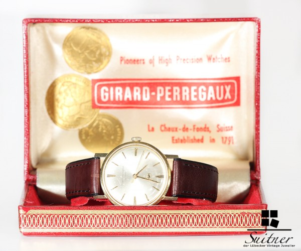 Girard Perregaux Gyromatic 750 Gold in Original Box um 1950! Extrem selten!