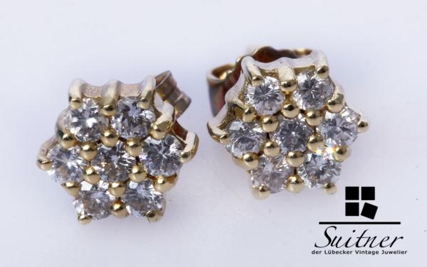feine Brillant 0,42ct. Ohrstecker aus 585 Gold Ohrringe tolles Geschenk