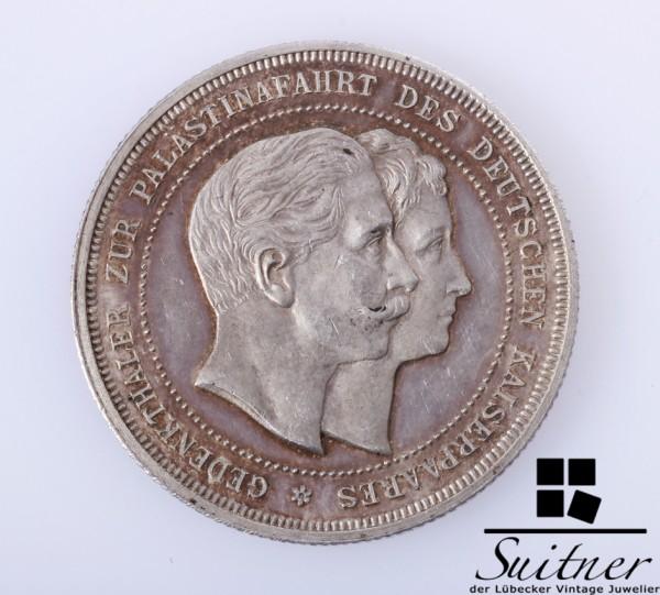 Gedenk Taler zur Palästinafahrt deutsches Kaiserpaar 1898 VZ sehr selten