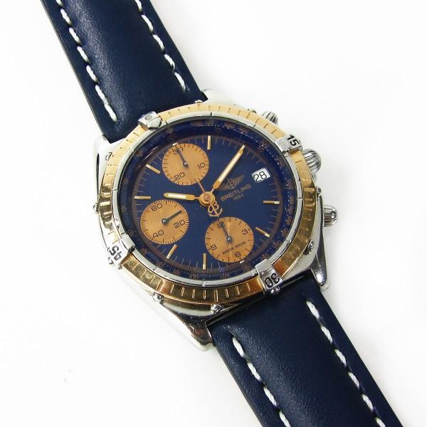 Breitling Chronomat Stahl/Gold 40mm Lederarmband