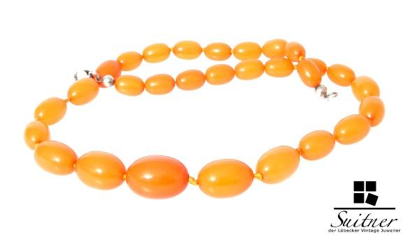 Bernstein Kette Butterscotch XL real Amber Prayer Beads 43,3 gr.