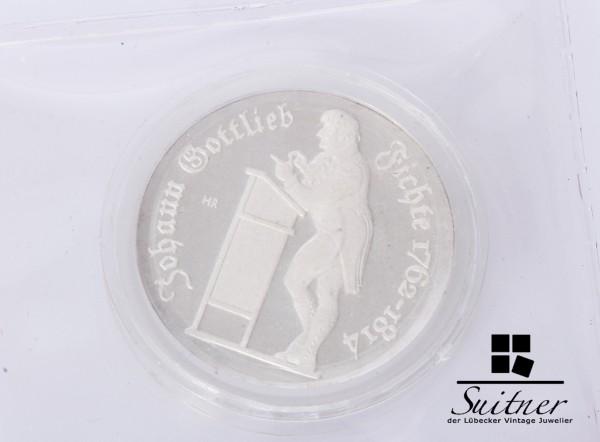 10 Mark DDR 1990 PP Fichte Polierte Platte Silber Selten