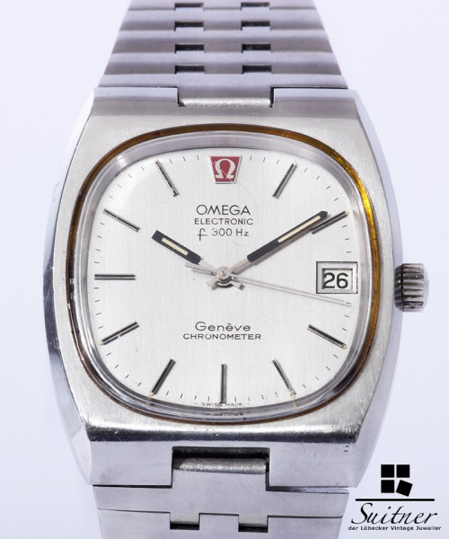 Omega Electronic f300Hz Chronometer seltene Uhr - Stahl Band