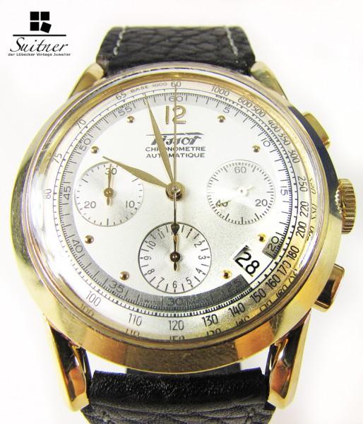 seltene Tissot Heritage 150 Years Anniversary 750 Gold Chronograph Automatik FULLSET