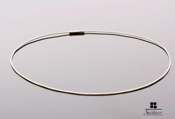 Niessing Reif Halsreif 750 Weißgold 42 cm Gold Schnurr Omega Kette