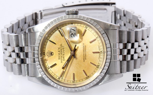 Rolex Datejust 16220 Full set Tropical Dial Bj 1995 Stahl