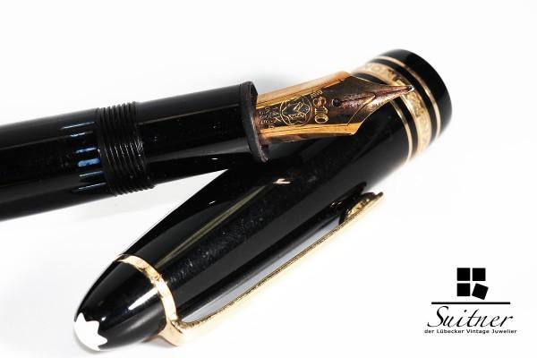 Füllfederhalter Montblanc 146 in schwarz mit 585 Gold Feder M Füller