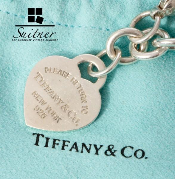 Tiffany & Co Armband 925 Silber Herzanhänger mit Box