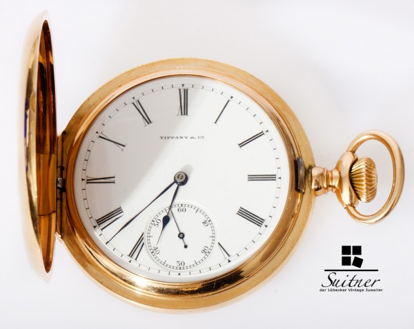 Taschenuhr Tiffany & Co. Patek Philippe 750 Gold Kaufmann Bros & Bondy New York
