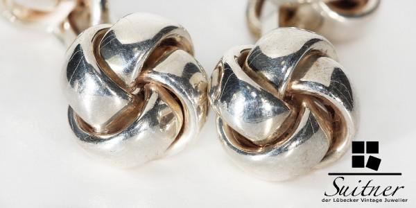 Art Deco Manschettenknöpfe 835 Silber Knoten Design Seefahrt Marine Cuff Links