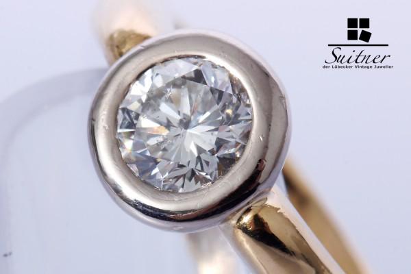 Solitär Brillant Ring 1,05 ct 750 Gold Gr. 57 Einkaräter Verlobung