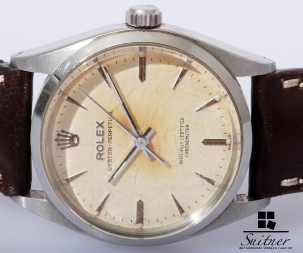 Rolex Oyster Perpetual OP Ref. 6564 Bj. 1959 Tropical Dial selten