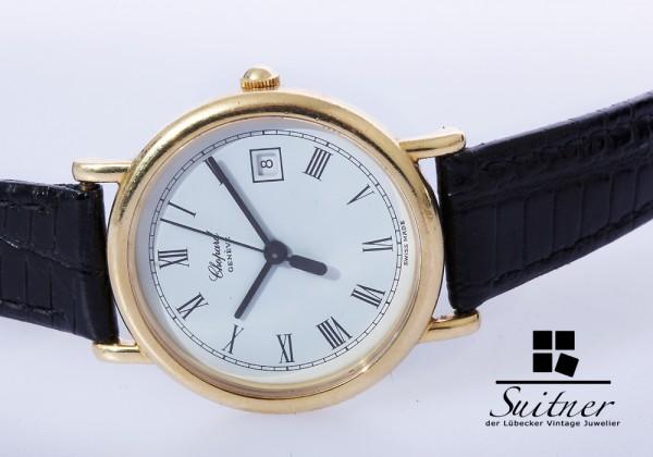 Chopard Lady Classic Damenuhr 750 Gold / Leder Uhr mit Box Papieren