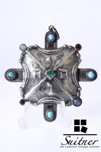 800er Silber Anhänger Tetragrammaton Kabbala JHWE