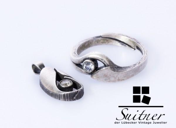 Modernist-Schmuckset von FinnFeelings in 925er Silber