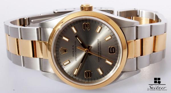 Rolex OP Oyster Perpetual Stahl Gold Automatik 14203 neuwertig 1996