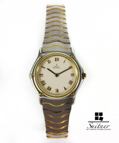 gesuchte Ebel Classic Wave Lady Stahl 750 Gold feiner Luxus