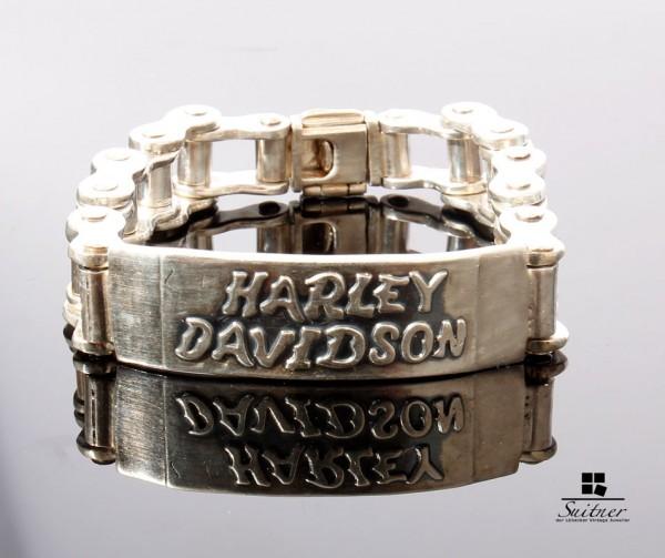 Harley Davidson Silber Armband 925 Silber Mexico 20cm Kette Antrieb Rocker