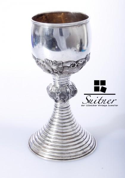 Hochwertiger Biedermeier-Pokalbecher - Silber, 13 Loth - 19.Jh.