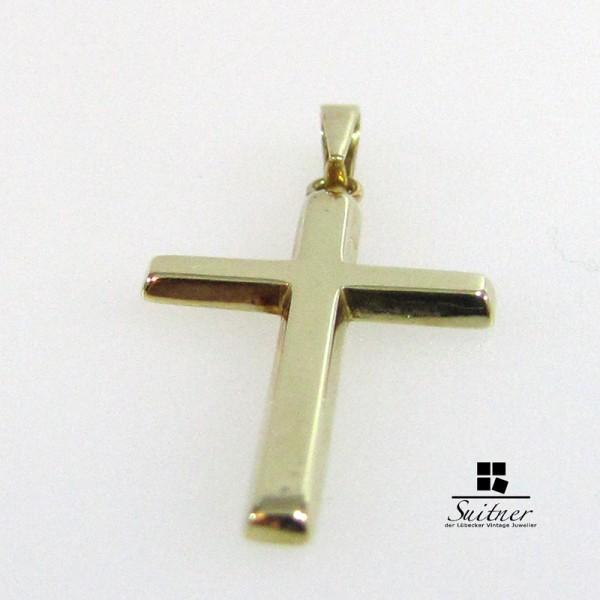 585 Gelbgold Kreuz Anhänger Kruzifix