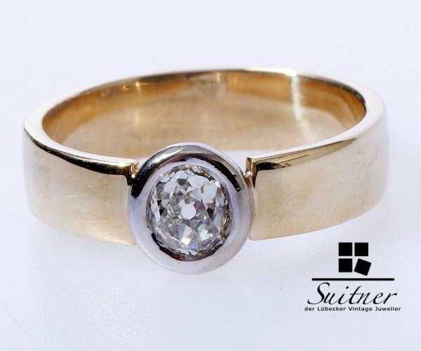 wertvoller Solitär Diamant Ring Halbkaräter 0,50 ct 585 Gold Gr. 56