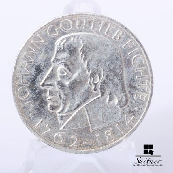 5 DM Johann Gottlieb Fichte 1964 Prägestätte J / VZ