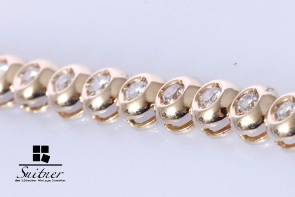 XL Tennis Armband Brillanten zus. ca. 2,00 ct 585 Gold 22cm lang