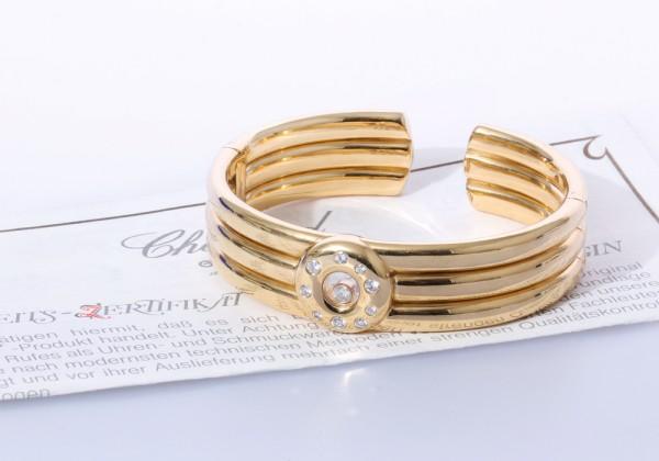 UNIKAT Chopard Armreif Armband Happy Diamonds 750 Gold Brillanten