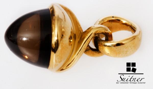 Tamara Comolli Mikado Rauchquarz 750 Gold Brauner Cabochon