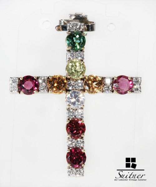 großartiges Luxus Juwelen Kreuz mit Gutachten