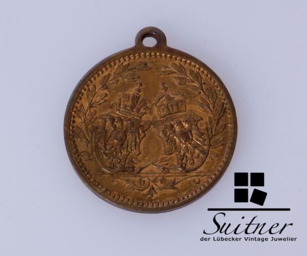 Medaille Österreich Deutsch Franz I Wilhelm II fast VZ