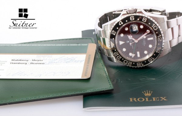 Rolex GMT Master 116710LN mit Box Papieren LC100 Full Set V-Serie