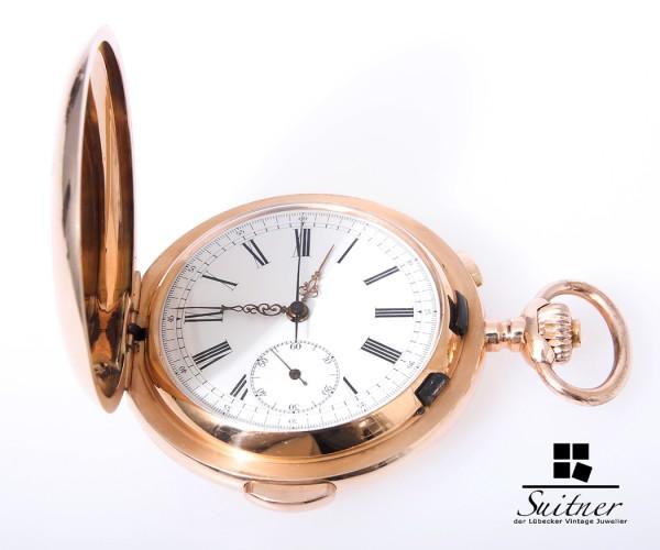Invicta Chronograph Minuten Repetition um 1890 Taschenuhr - sehr selten