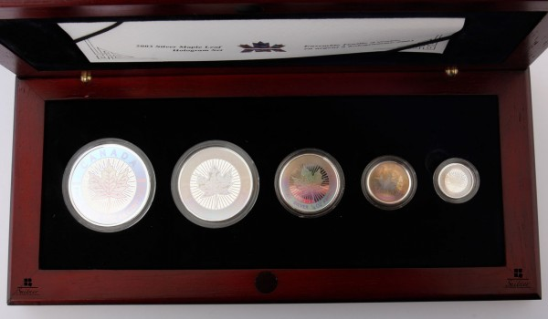 Royal Canadian Mint Kanada PP 2003 Hologram Set Ahorn Silber - selten farbig