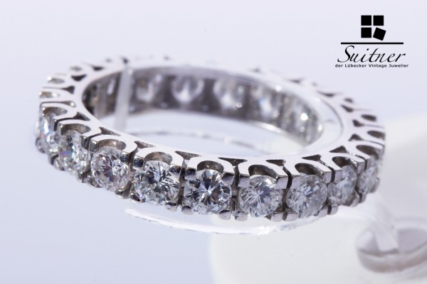 Memoire Ring Brillanten zus. ca. 1,80 ct 585 Gold vvsi nahezu lupenrein