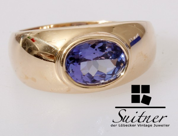 Tansanit Ring Harry Ivens 585 Gold - IV - TV Juwelier Gr. 51