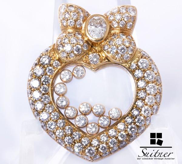 XL Chopard Anhänger Happy Diamonds 750 Gold - NP 44.000,-