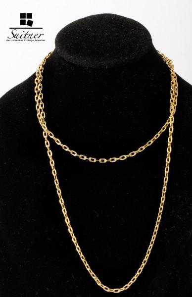 Kette aus 375 Gold Neu - Ankerkette ein Klassiker als Collier oder für Alltag 50cm