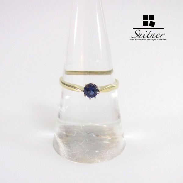 Saphir Ring 585 Gold Gr. 54