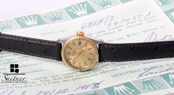 Rolex Lady Datejust Stahl / Gold Ref. 6917 mit Papieren, Jahrgang 1982