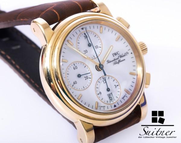 IWC Amalfi Chronograph 750 Gold only 727 pieces like Portofino 3703 selten