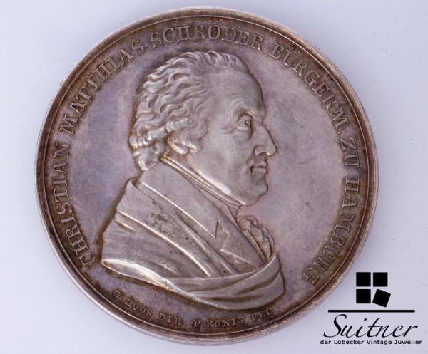selten Medaille Hamburg Christian Mathias Schröder Bürgermeister VZ