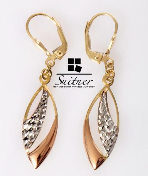 Ohrschmuck Ohrhänger aus Gold und Weißgold neuwertig