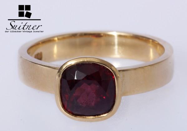 Granat Ring 750 Gold rosenrot Gr. 59