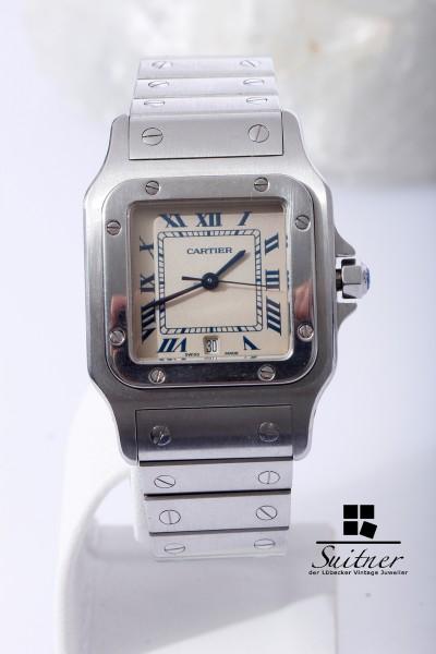 große Cartier Santos Galbee GM mit Datum Stahl tolle Luxusuhr