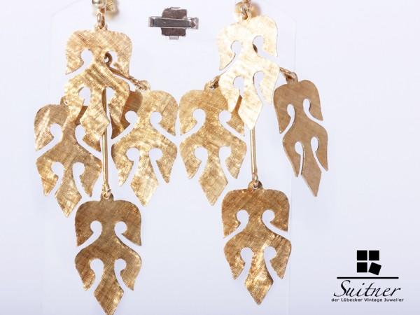 Orientalische Ohrringe aus Gold Handarbeit